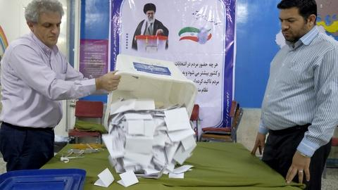 PBS NewsHour -- Reformists and moderates drawing votes in Iran