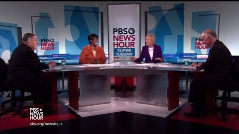 PBS NewsHour -- Shields and Brooks on Super Tuesday