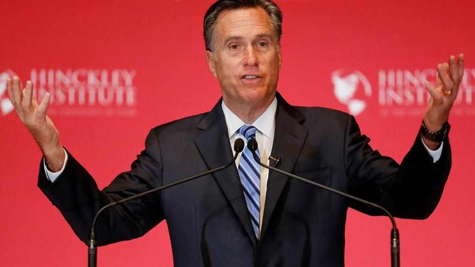 """Romney reappears to lead GOP charge against """"phony"""" Trump image"""