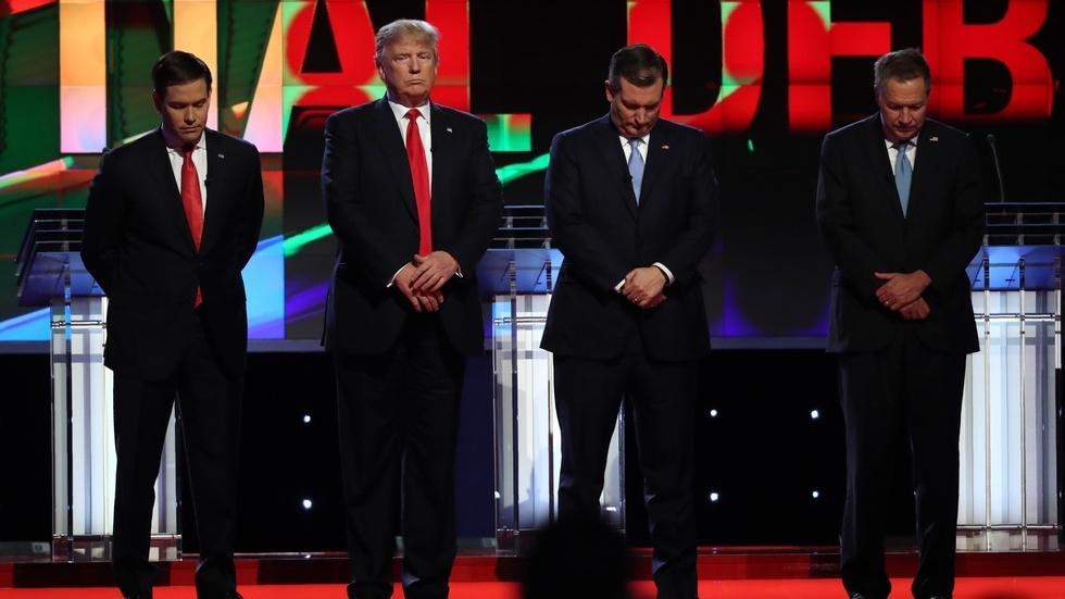 GOP contenders choose substance over squabbling image