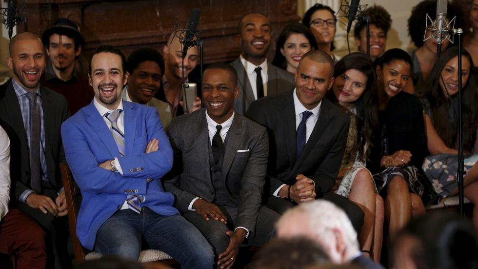 Acclaimed 'Hamilton' visits the White House & Obama joins in image