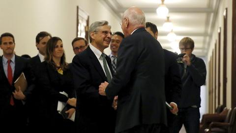 PBS NewsHour -- Supreme Court nominee meets with Congressional Democrats
