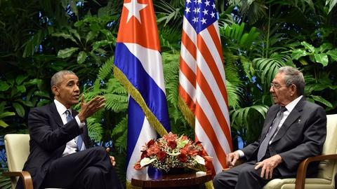 PBS NewsHour -- Obama and Castro share differences, goodwill during visit