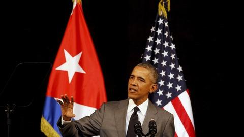 PBS NewsHour -- With all Cuba watching, Obama offers hopeful possibilities