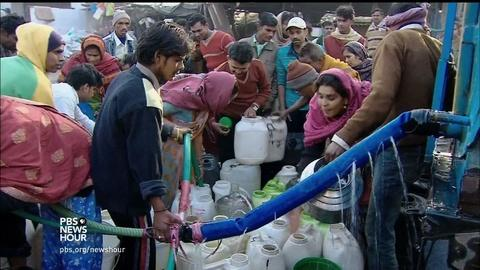 PBS NewsHour -- Can water ATMs solve India's water crisis?