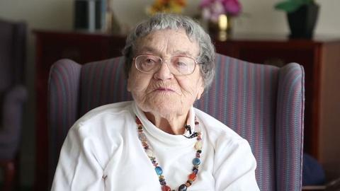 PBS NewsHour -- She's 91 but she feels 15. Here's her secret