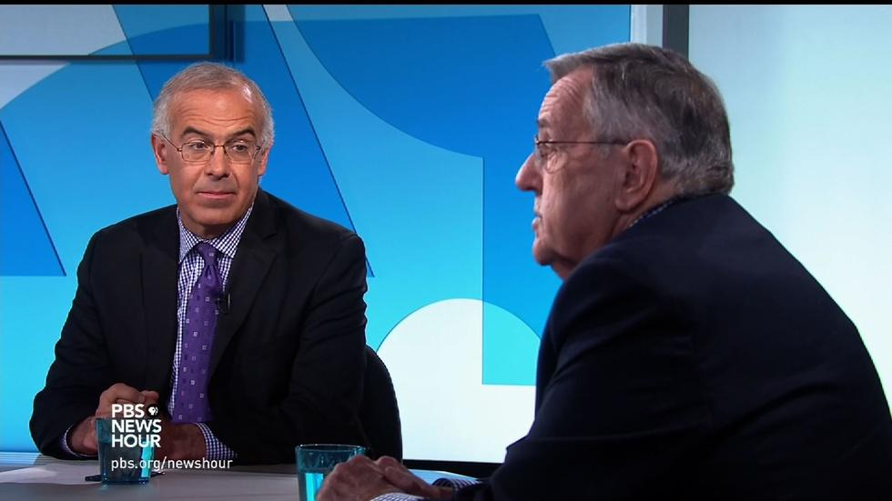 Shields and Brooks on Obama's NewsHour interview image