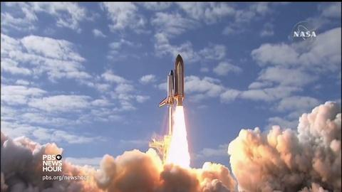 PBS NewsHour -- NASA scientists try to stop space fires -- by setting the