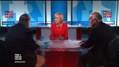 PBS NewsHour -- Shields and Brooks on Clinton victory, Trump's 'moral chasm'