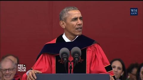 PBS NewsHour -- The president and a middle schooler among best grad speakers
