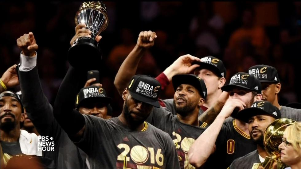 Cavaliers win Cleveland its first sports title in 52 years image