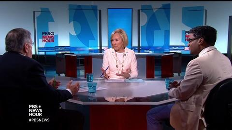 PBS NewsHour -- Shields and Ponnuru on new cloud over Clinton email probe