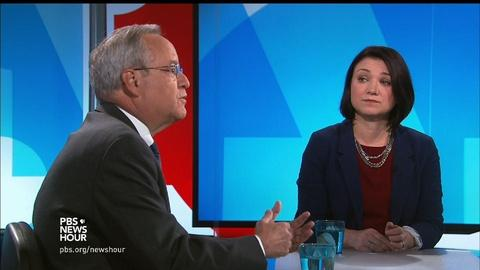PBS NewsHour -- More Twitter trouble dogs Trump, Clinton's FBI interview