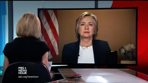 PBS NewsHour -- Clinton calls for national use of force standards for police