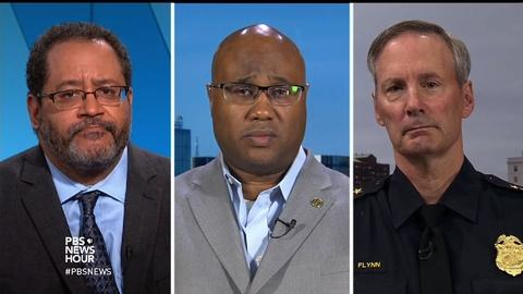 PBS NewsHour -- Week of violence sparks dialogue on race and policing