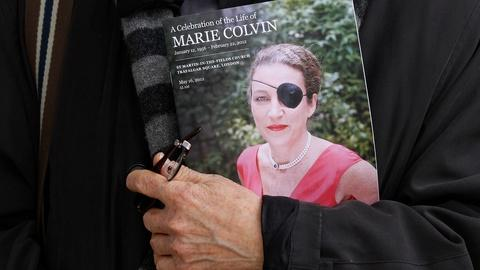 PBS NewsHour -- Family of slain journalist Marie Colvin sues Syria