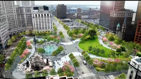 PBS NewsHour -- Hot in Cleveland? The city's new, cool Public Square