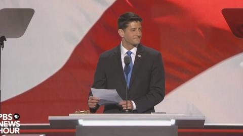 PBS NewsHour -- Paul Ryan announces final vote tally at 2016 RNC