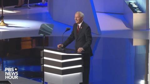 PBS NewsHour -- Asa Hutchinson speak at the Republican National Convention