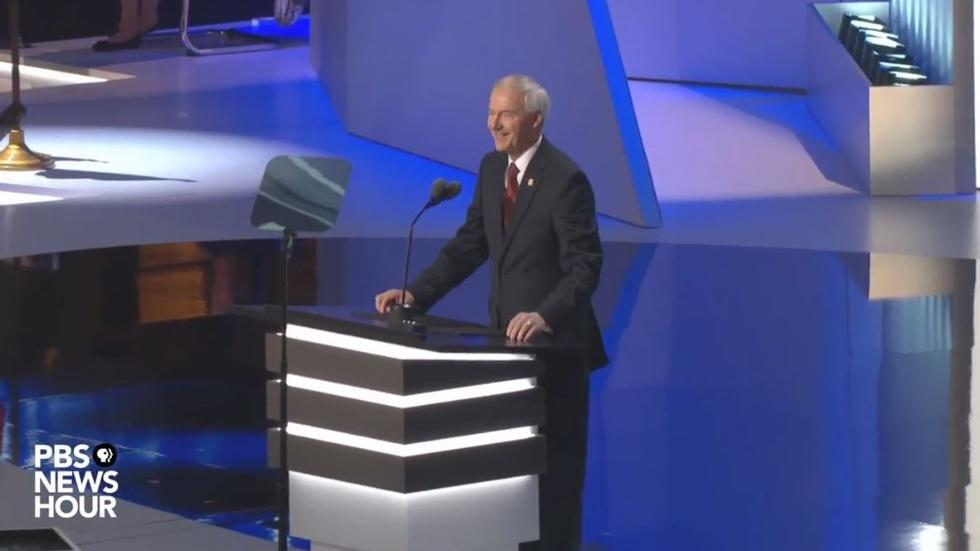 Asa Hutchinson speak at the Republican National Convention image