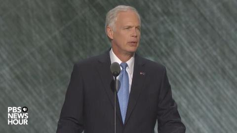 PBS NewsHour -- Sen. Ron Johnson speaks at Republican National Convention