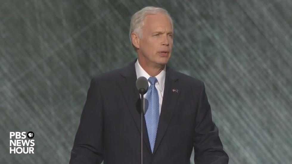 Sen. Ron Johnson speaks at Republican National Convention image