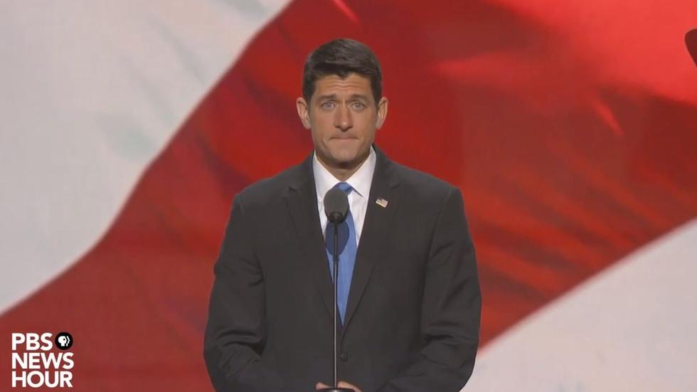 Paul Ryan speaks at the Republican National Convention image