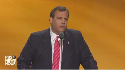 PBS NewsHour -- Chris Christie at the 2016 Republican National Convention
