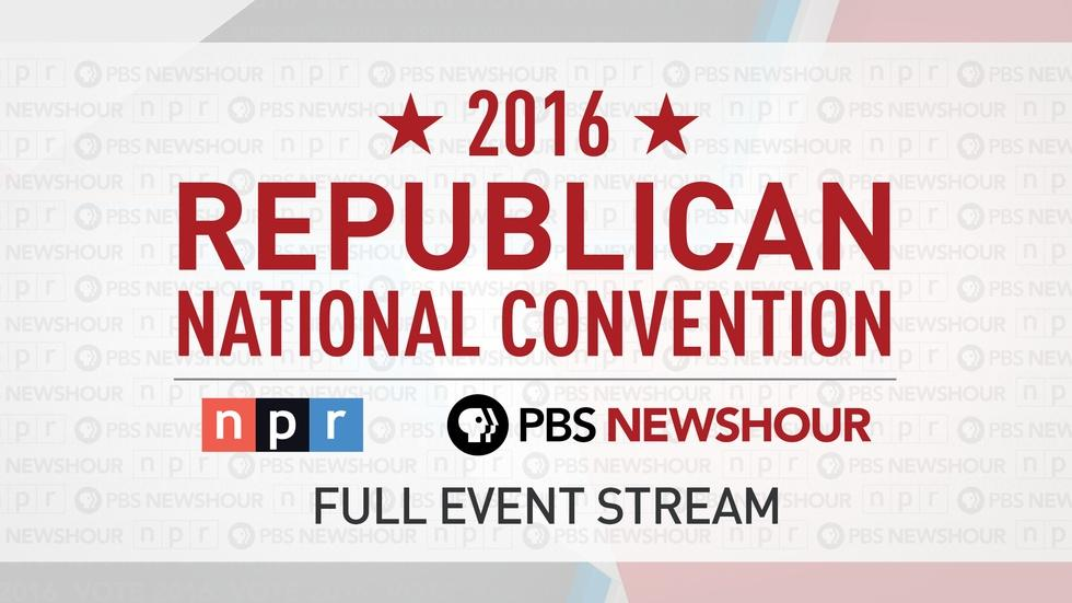 PBS NewsHour/NPR RNC Special – Day 4 image