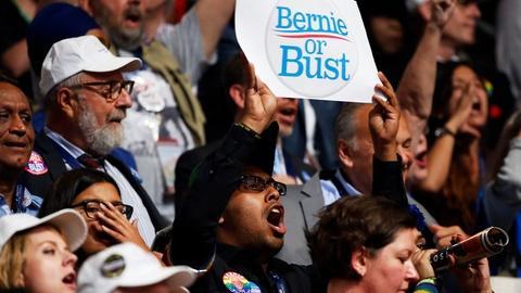 PBS NewsHour -- Can Hillary Clinton win over the Bernie Sanders booers?