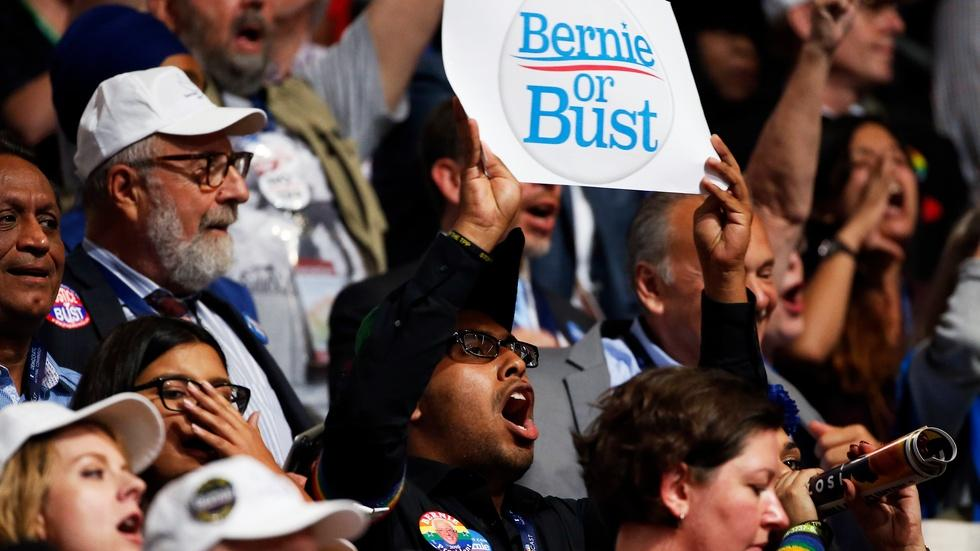Can Hillary Clinton win over the Bernie Sanders booers? image