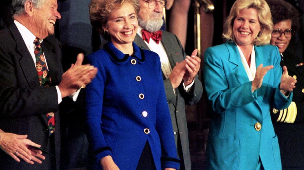 How Clinton redefined the role of first lady image