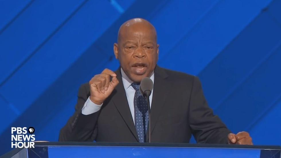Rep. John Lewis seconded the nomination for Hillary Clinton image