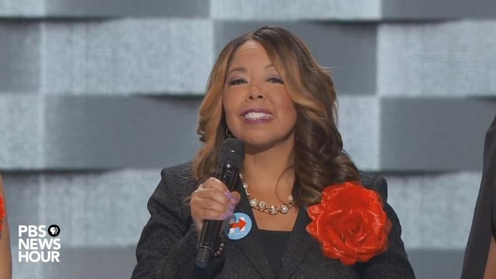 Mothers of the Movement speak at the 2016 DNC image