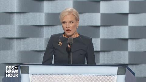 PBS NewsHour -- Planned Parenthood president Cecile Richards speaks at DNC