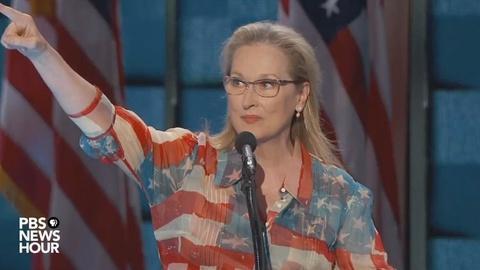 PBS NewsHour -- Watch Meryl Streep's full speech at the 2016 DNC