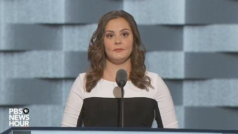 PBS NewsHour -- Daughter of Sandy Hook victim speaks at 2016 DNC