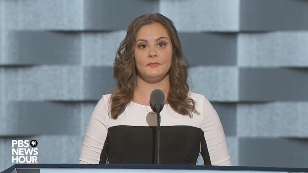 Daughter of Sandy Hook victim speaks at 2016 DNC image