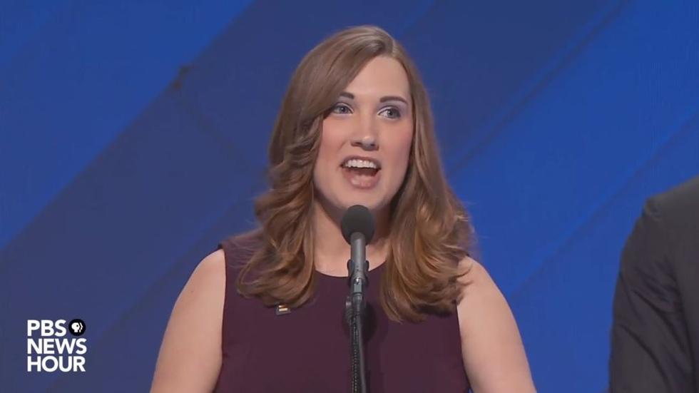 Sarah McBride addresses DNC 2016 image