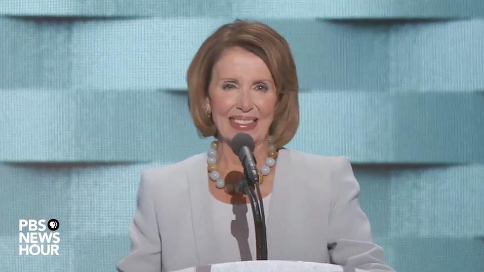 Nancy Pelosi's full speech from Thursday at the 2016 DNC image