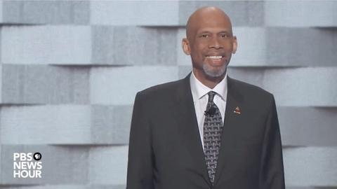 PBS NewsHour -- Kareem Abdul-Jabbar spoke on the final night of the 2016 DNC