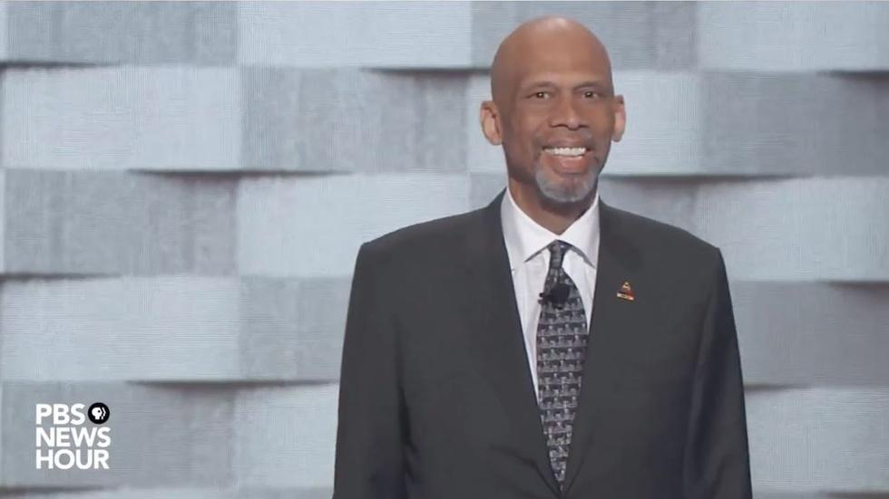 Kareem Abdul-Jabbar spoke on the final night of the 2016 DNC image