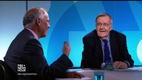 PBS NewsHour -- Shields and Brooks on which convention was more successful