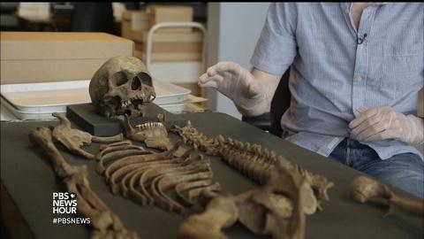 PBS NewsHour -- Archaeologists mine for history below new London skyline