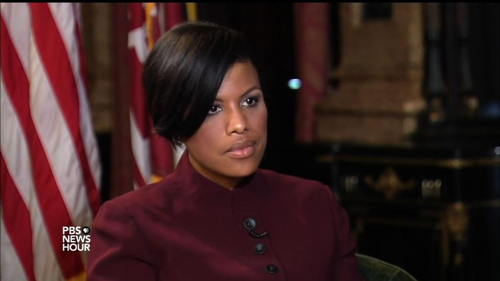 Baltimore mayor reacts to DOJ report on policing image