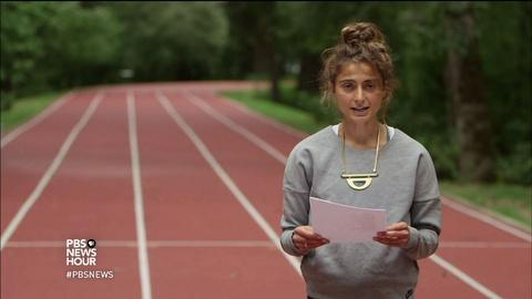 """PBS NewsHour -- This Olympian and poet on """"freedom within boundaries"""""""
