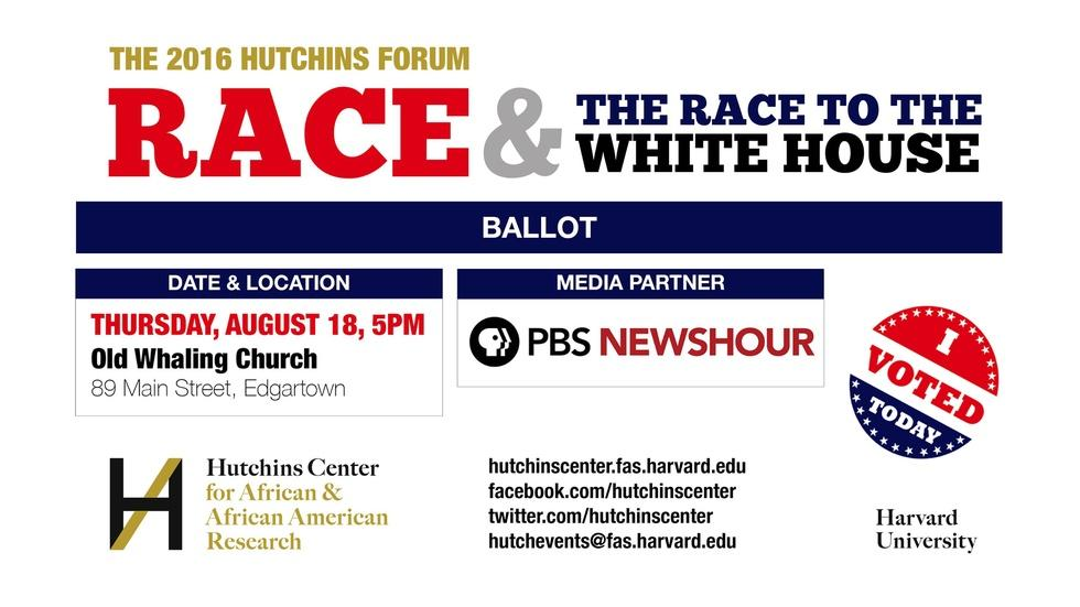 2016 Hutchins Forum: Race & the Race to the White House image