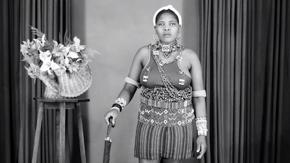 Black-and-white portraits from apartheid-era South Africa image
