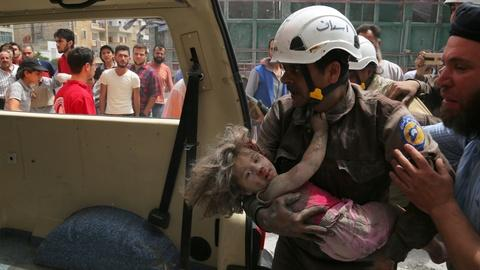 PBS NewsHour -- The Syrian volunteers who risk their lives to save others