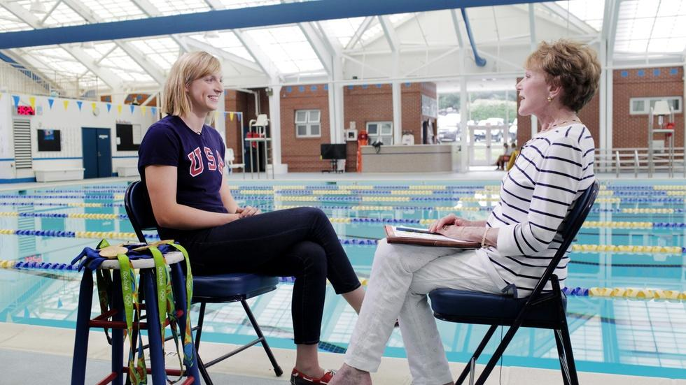 At the pool with freestyle phenom Katie Ledecky image